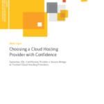 Cloud Whitepaper: Choosing A Cloud Hosting Provider With Confidence