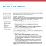 Red Hat Cloud Services And Training