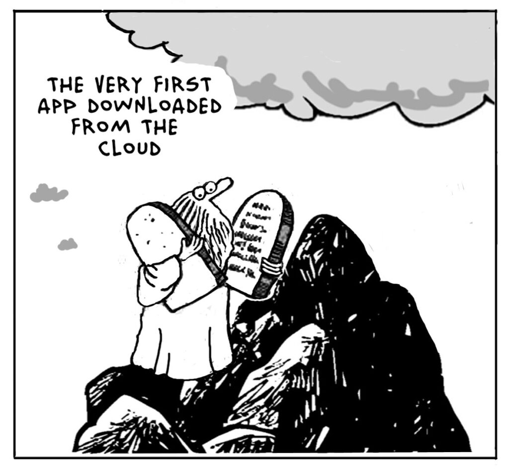 The Lighter Side Of The Cloud – The First Cloud App