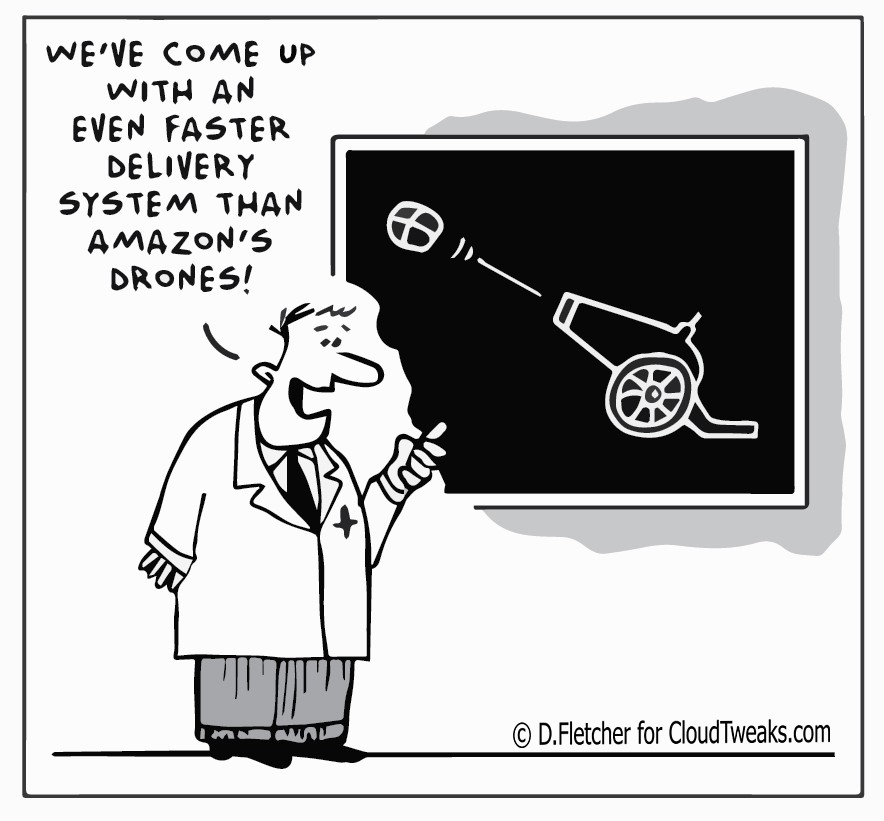 The Lighter Side Of The Cloud – New Delivery System