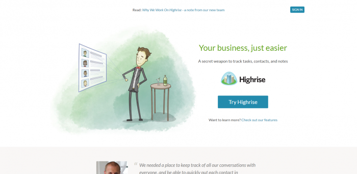 CRM Software for small business - Highrise