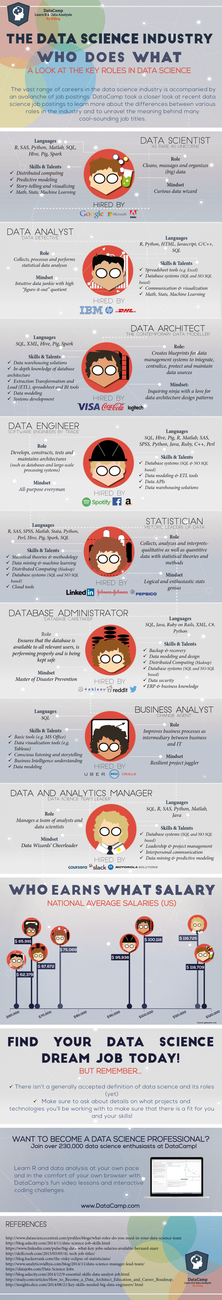 Data Scientist infographic The World of Data Scientists