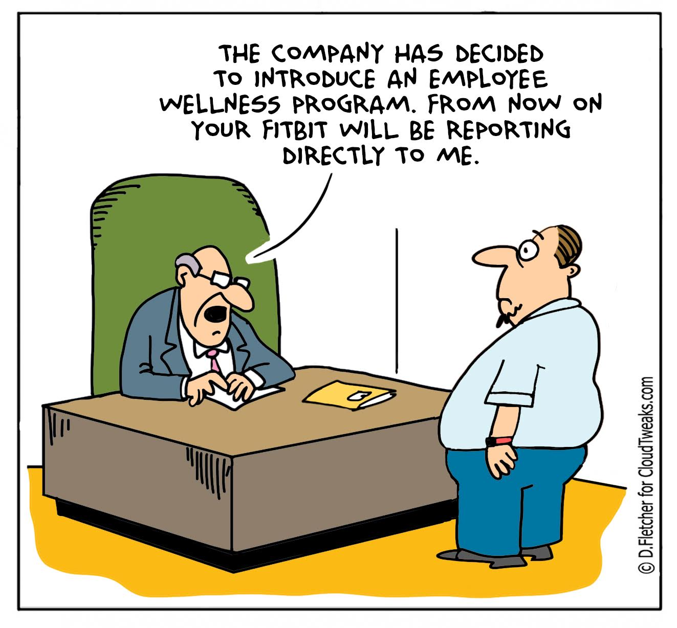 Fitbit Employee Comic Cloudtweaks