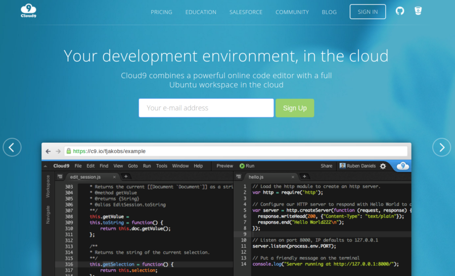 cloud 9 development