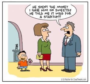 startup tech comic series