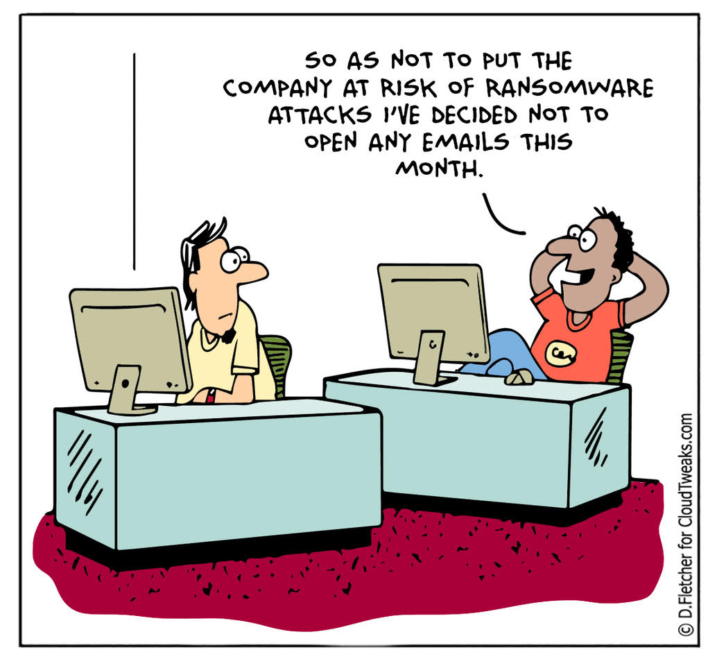 Ransomware Comic Cloudtweaks