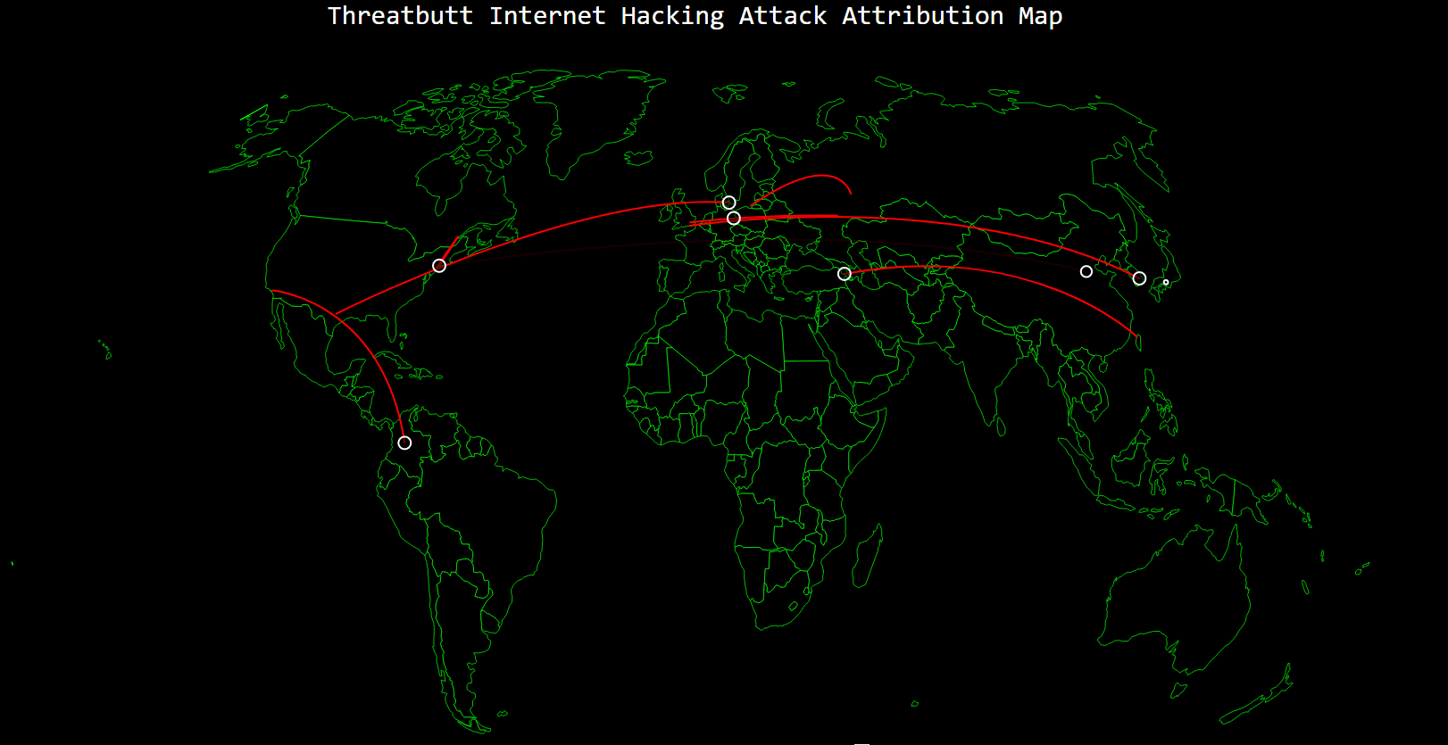 Hacking and Ransomware Tracking Maps global cyber attacks in real time