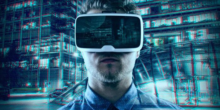 Virtual Reality Glasses Blue